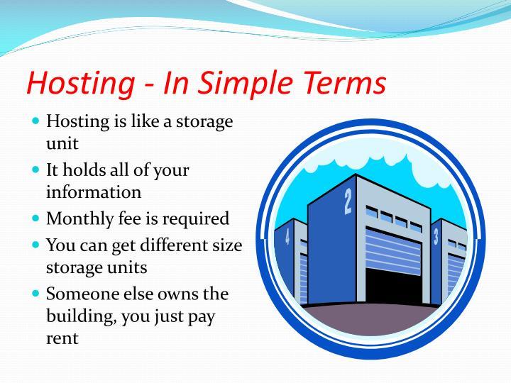 Hosting - In Simple Terms