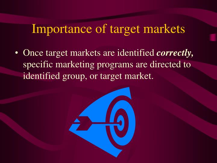 Importance of target markets