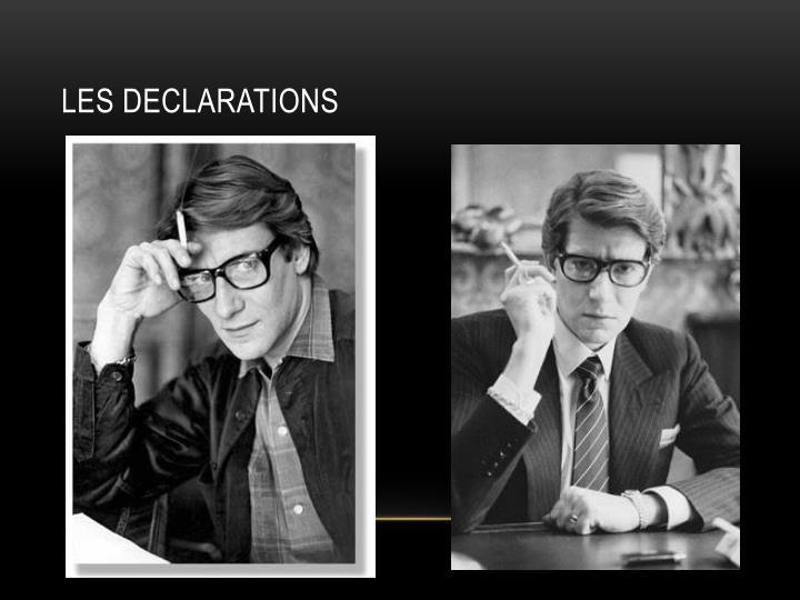 Les declarations