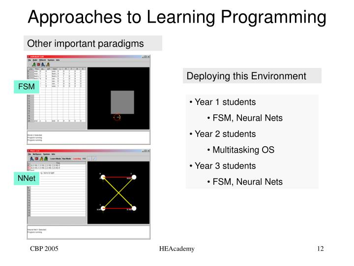 Approaches to Learning Programming