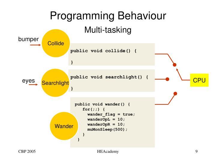 Programming Behaviour