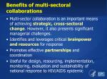 benefits of multi sectoral collaborations1