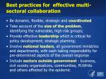 best practices for effective multi sectoral collaboration