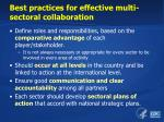 best practices for effective multi sectoral collaboration1