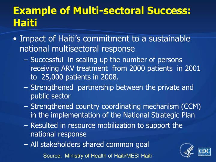 Example of Multi-sectoral Success: Haiti
