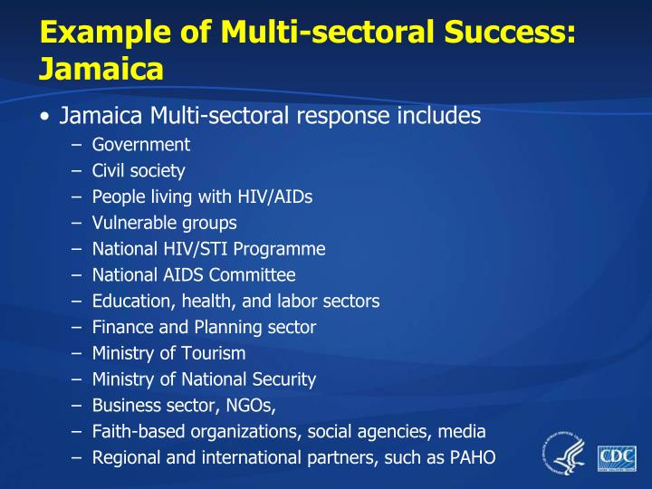 Example of Multi-sectoral Success: Jamaica