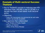 example of multi sectoral success thailand