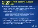 example of multi sectoral success the bahamas