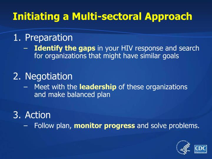 Initiating a Multi-sectoral Approach