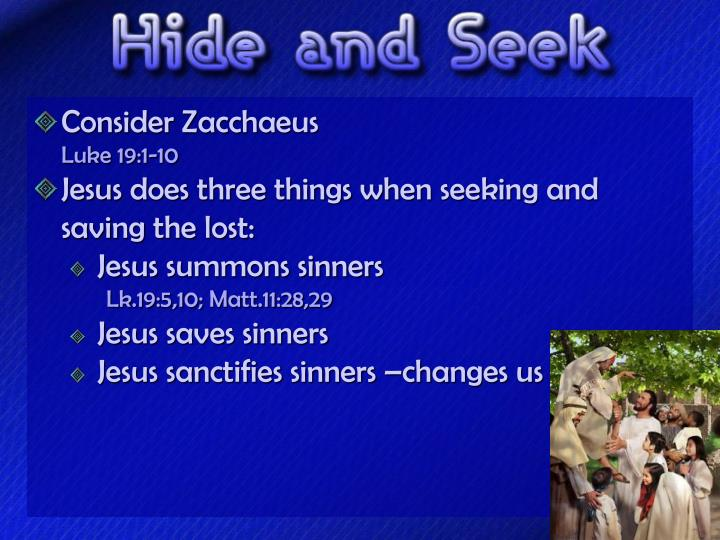 Consider Zacchaeus