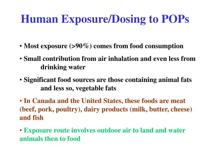 Human Exposure/Dosing to POPs