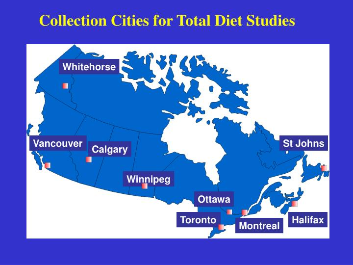 Collection Cities for Total Diet Studies