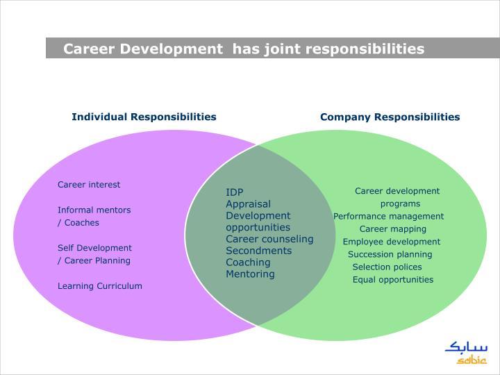 Career Development  has joint responsibilities