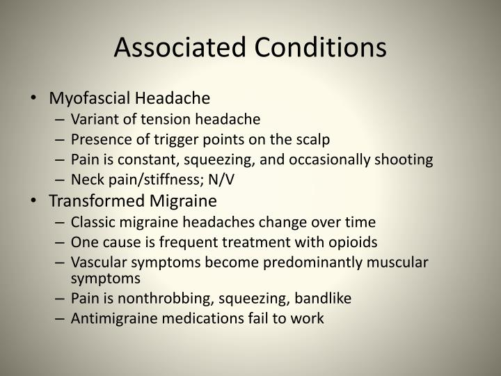 Associated Conditions