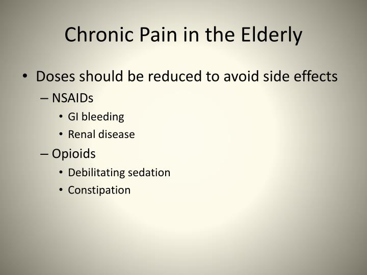 Chronic Pain in the Elderly