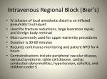 intravenous regional block bier s