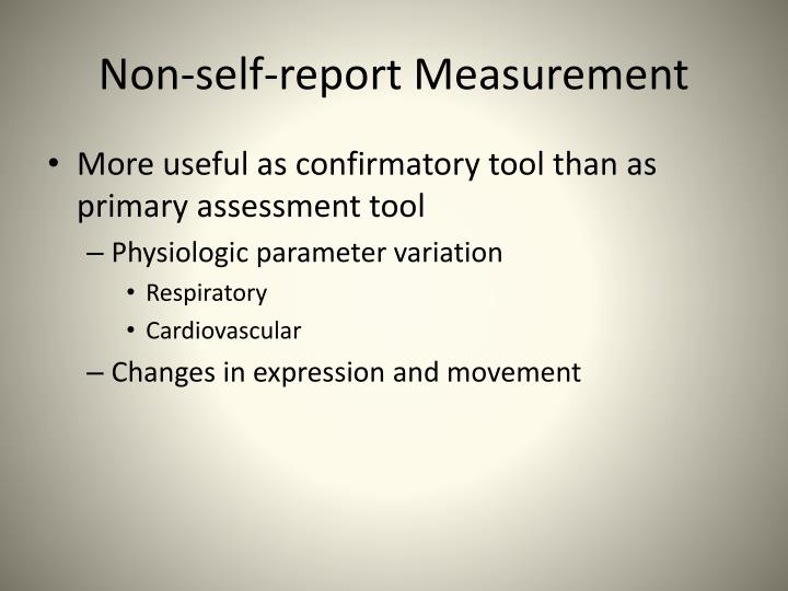 Non-self-report Measurement