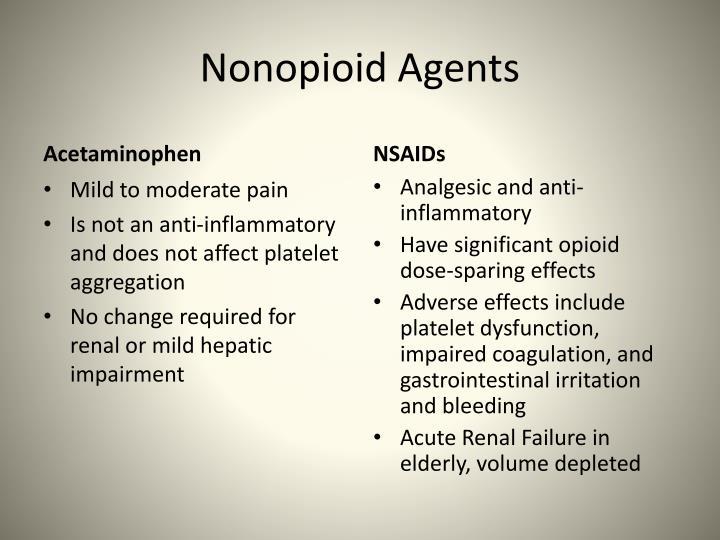 Nonopioid