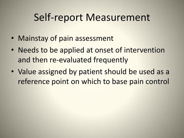 Self-report Measurement