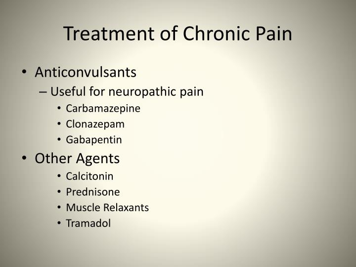 Treatment of Chronic Pain