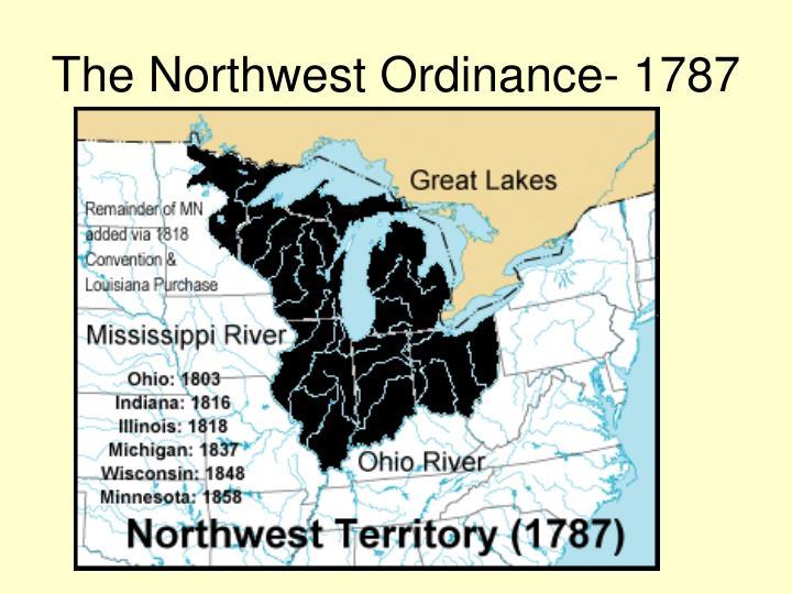 The Northwest Ordinance- 1787