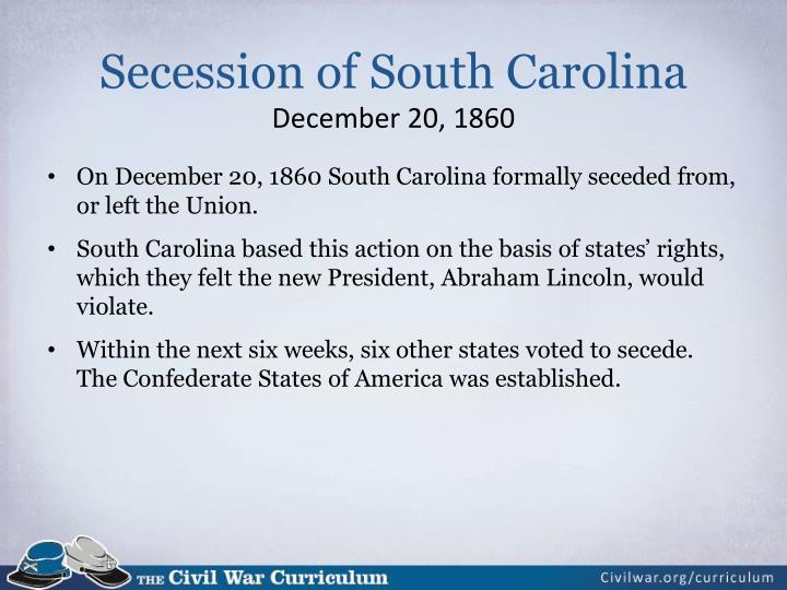 Secession of South Carolina