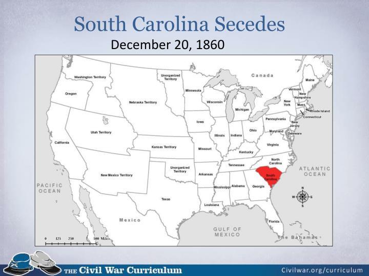 South Carolina Secedes