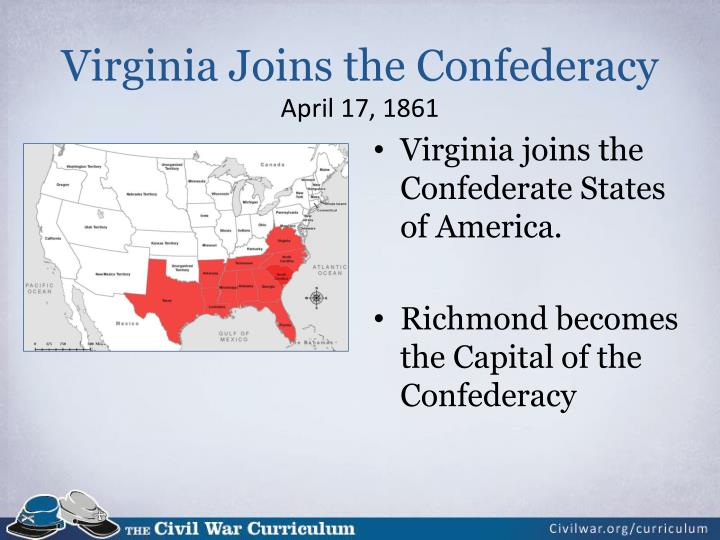 Virginia Joins the Confederacy