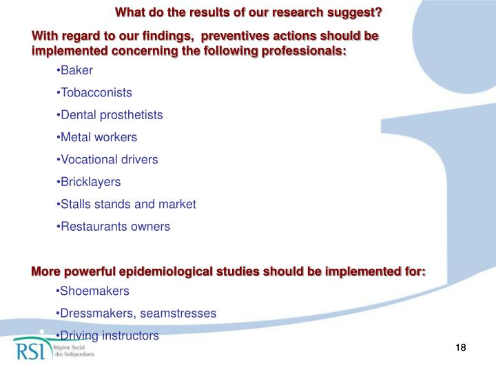 What do the results of our research suggest?