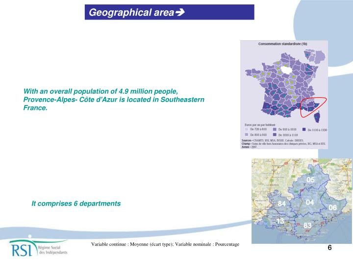 Geographical area