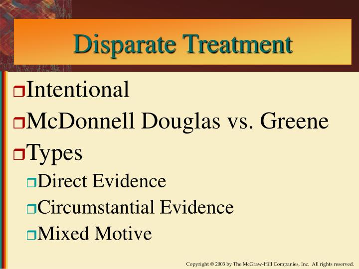 Disparate Treatment