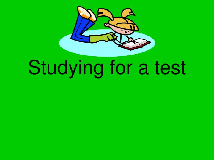 Studying for a test