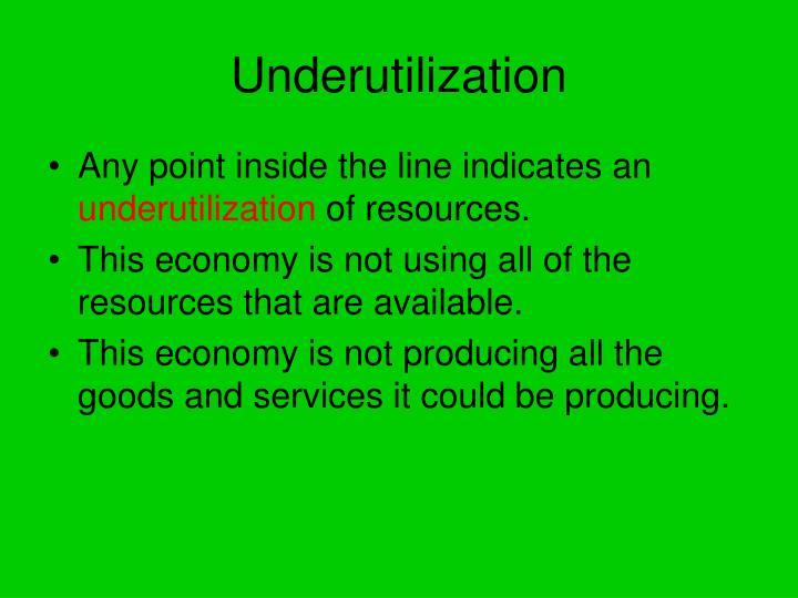 Underutilization