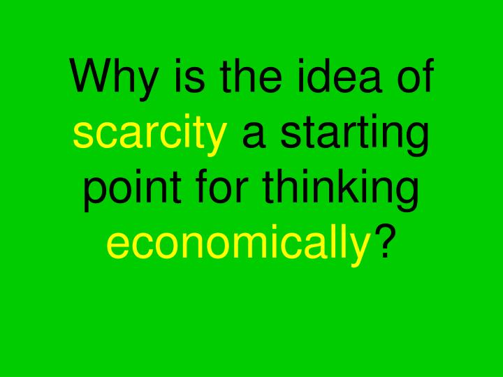 Why is the idea of