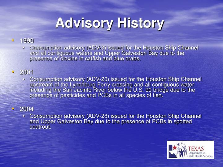 Advisory History