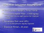 dshs risk calculation assumptions