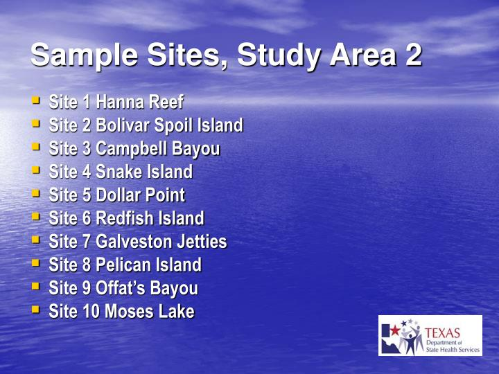 Sample Sites, Study Area 2