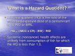 what is a hazard quotient
