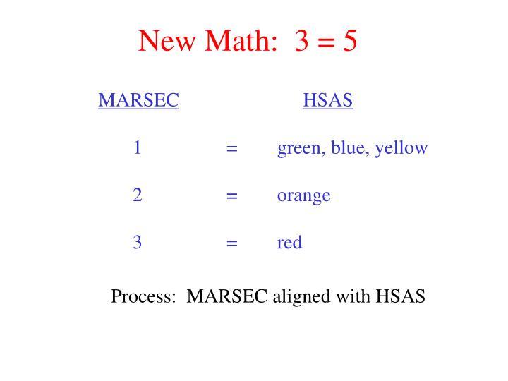 New Math:  3 = 5