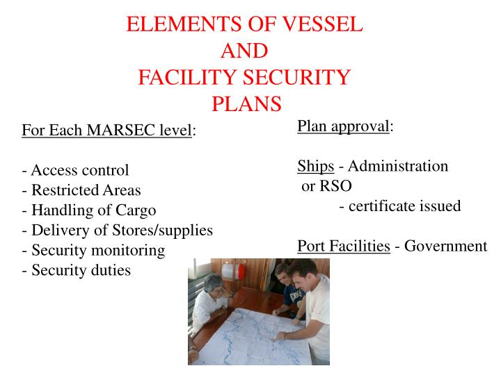 ELEMENTS OF VESSEL