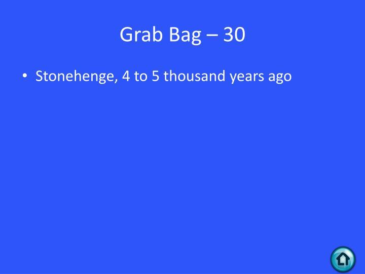 Grab Bag – 30