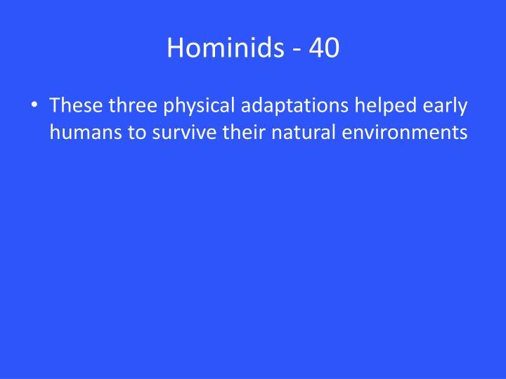 Hominids - 40