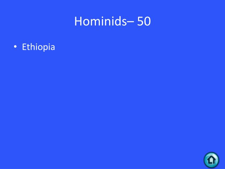 Hominids– 50