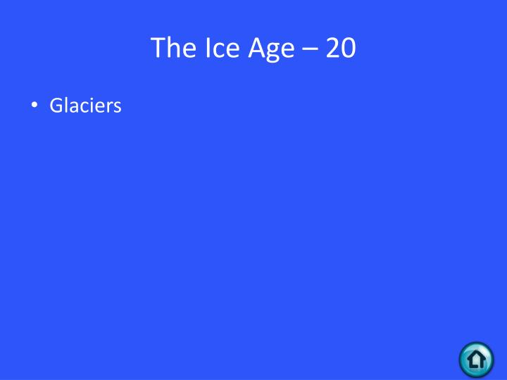 The Ice Age – 20