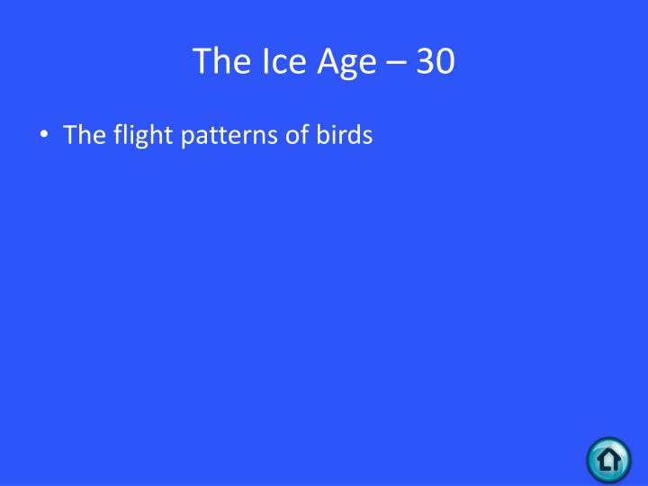 The Ice Age – 30
