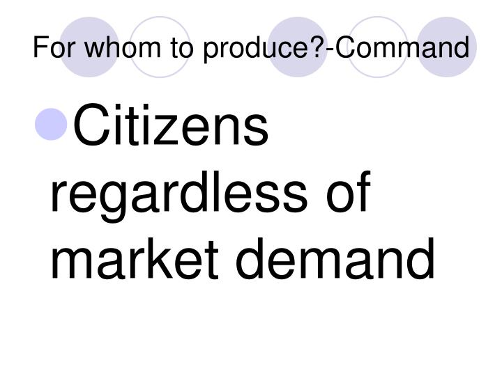 For whom to produce?-Command