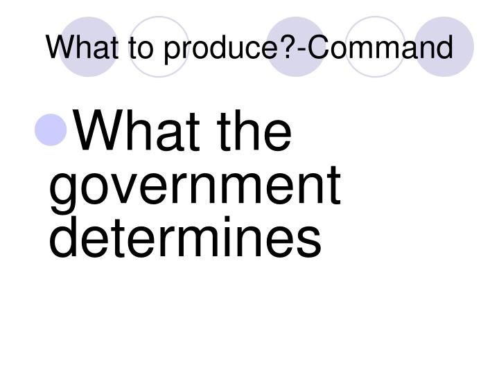 What to produce?-Command