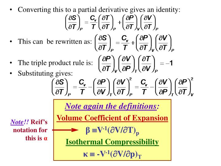 Converting this to a partial derivative gives an identity: