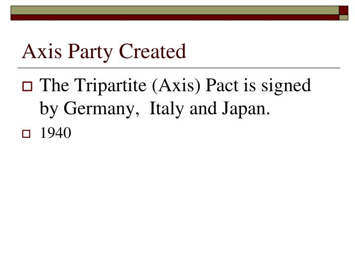 Axis Party Created