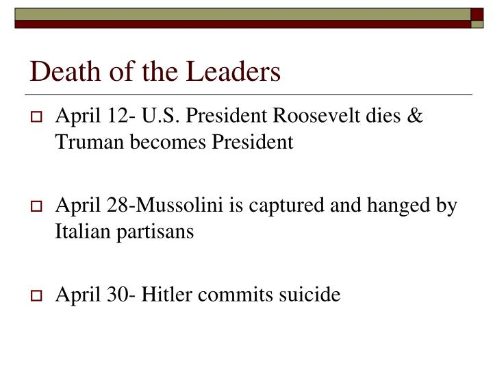 Death of the Leaders